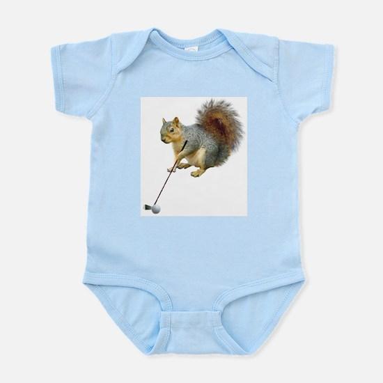 Golfing Squirrel Infant Bodysuit