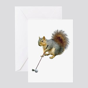 Golfing Squirrel Greeting Card