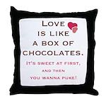 Love is Like a Box of Chocolates Throw Pillow