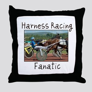 Harness Racing Fanatic Throw Pillow
