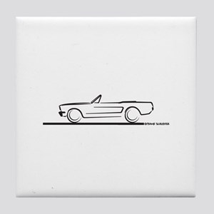1964 65 66 Mustang Convertible Tile Coaster