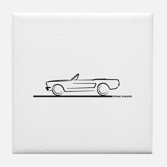 1964 65 66 Mustang Convertible Tile Coaster