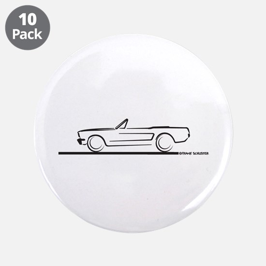 "1964 65 66 Mustang Convertible 3.5"" Button (10 pac"