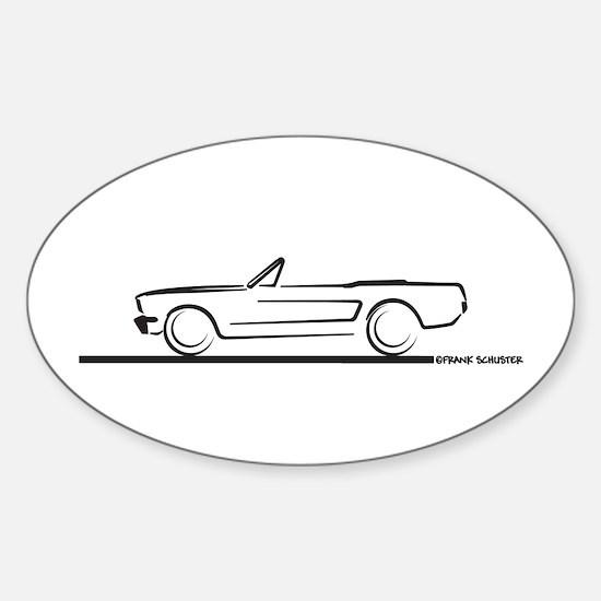 1964 65 66 Mustang Convertible Sticker (Oval)