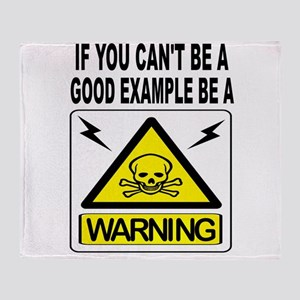 WARNING Throw Blanket