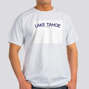 Lake Tahoe (Navy) - Ash Grey T-Shirt