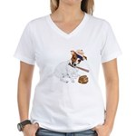 Fun JRT product, Baseball Fever Women's V-Neck T-S