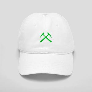 Crossed Rock Hammers (green) Cap