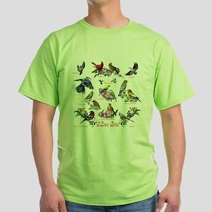 I love Birds Green T-Shirt