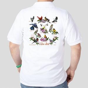 I love Birds Golf Shirt
