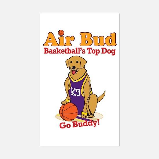 Air Bud Basketball Sticker (Rectangle)