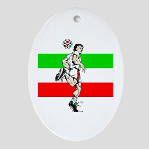 Soccer Tribble Oval Ornament