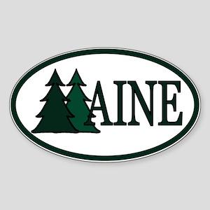 Maine Pine Trees II Sticker (Oval)