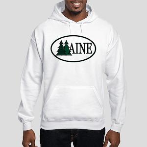 Maine Pine Trees II Hooded Sweatshirt