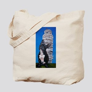 French Bulldog & Leaning Towe Tote Bag