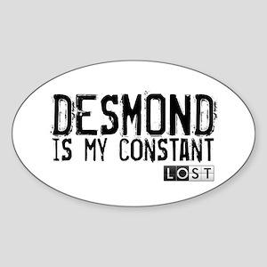 Desmond Is My Constant Sticker (Oval)