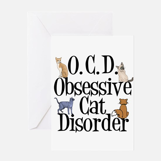 Obsessive Cat Disorder Greeting Card