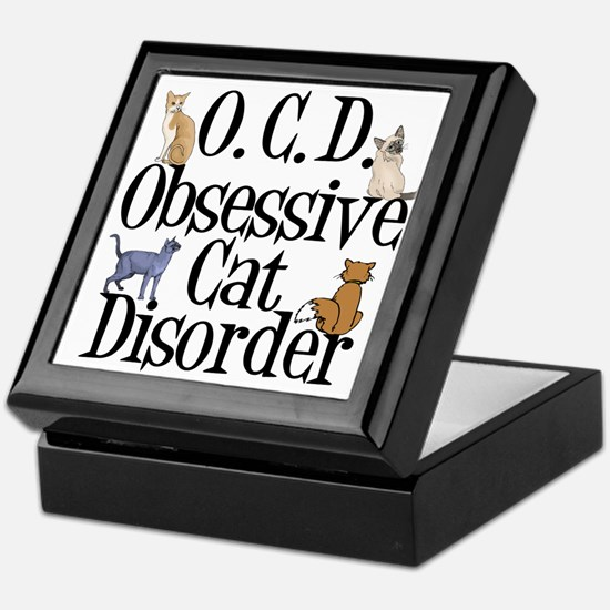 Obsessive Cat Disorder Keepsake Box