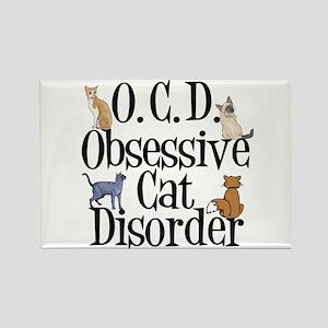 Obsessive Cat Disorder Rectangle Magnet