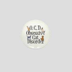 Obsessive Cat Disorder Mini Button