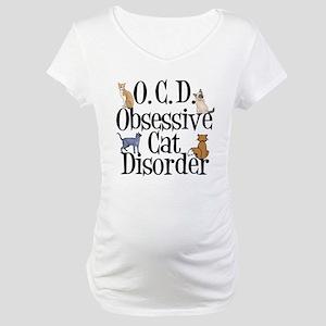 Obsessive Cat Disorder Maternity T-Shirt