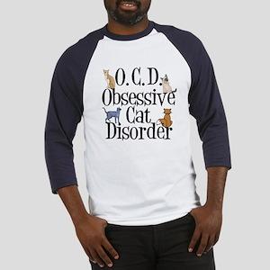 Obsessive Cat Disorder Baseball Jersey