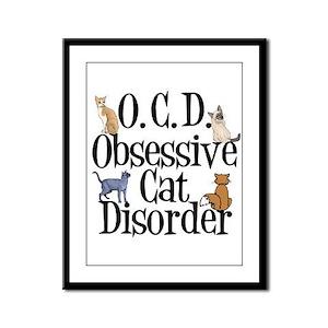 Obsessive Cat Disorder Framed Panel Print