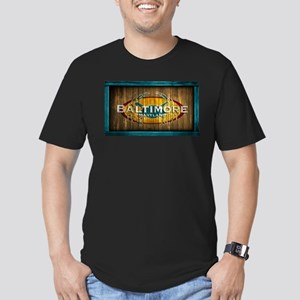 Baltimore Crab Men's Fitted T-Shirt (dark)