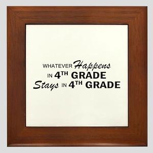 Whatever Happens -4th Grade Framed Tile