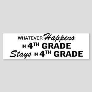 Whatever Happens -4th Grade Sticker (Bumper)