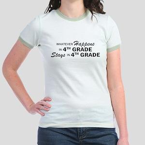 Whatever Happens -4th Grade Jr. Ringer T-Shirt