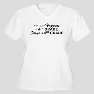 Whatever Happens -4th Grade Women's Plus Size V-Ne