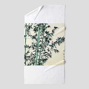 Oriental Green Bamboo Beach Towel