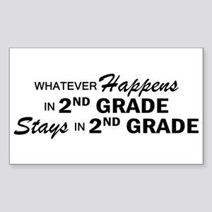 Whatever Happens - 2nd Grade Sticker (Rectangle)