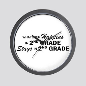 Whatever Happens - 2nd Grade Wall Clock
