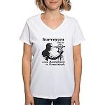 SurveyorsDoIt Women's V-Neck T-Shirt