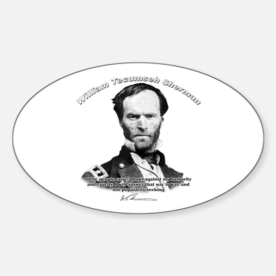 William Sherman 02 Oval Decal