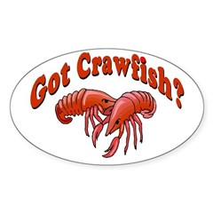 Got Crawfish Oval Decal