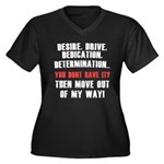 the 4 D's Women's Plus Size V-Neck Dark T-Shirt