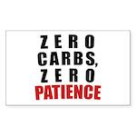 Zero Carbs Sticker (Rectangle)