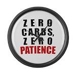 Zero Carbs Large Wall Clock