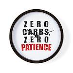 Zero Carbs Wall Clock