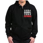Zero Carbs Zip Hoodie (dark)