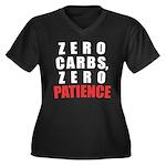 Zero Carbs Women's Plus Size V-Neck Dark T-Shirt
