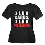 Zero Carbs Women's Plus Size Scoop Neck Dark T-Shi