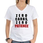 Zero Carbs Women's V-Neck T-Shirt