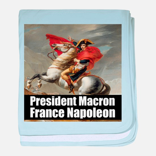 President Macron France Napoleon baby blanket