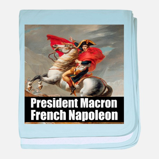 President Macron French Napoleon baby blanket