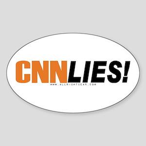 CNN Lies Oval Sticker