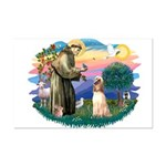 St Francis #2/ Afghan Hound Mini Poster Print